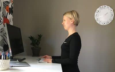 Näyttöpäätetyö – seisomatyö, istumatyö – ota ergonomia haltuun